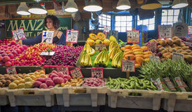 Fruit, Vegetable Vendor, Pike Place Market Stock Photo