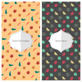 Fruit vegetable wallpaper Stock Photo