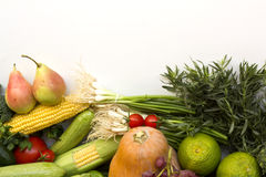 Fruit and vegetable. In white background Stock Photography
