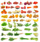 Fruit and vegetable  on white Stock Photos