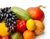 Fruit and vegetable  on white background Stock Image