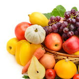 Fruit and vegetable on white background Stock Images