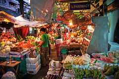 Fruit and vegetablemarket in Bangkok early morning Stock Photo