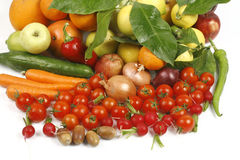 Fruit and vegetables. Healthy fruits and vegetables to feed Stock Photography
