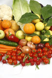 Fruit and vegetables. Healthy fruits and vegetables to feed Royalty Free Stock Photo