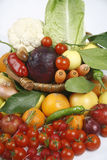 Fruit and vegetables. Healthy fruits and vegetables to feed Royalty Free Stock Photos