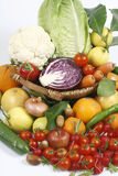 Fruit and vegetables. Healthy fruits and vegetables to feed Stock Image