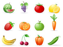 Fruit and Vegetables royalty free illustration