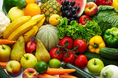 Fruit and vegetables. Group of different fruit and vegetables 1 Royalty Free Stock Photos