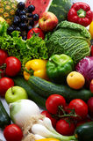 Fruit and vegetables. Group of different fruit and vegetables 1 Royalty Free Stock Image