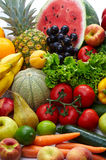 Fruit and vegetables. Group of different fruit and vegetables 1 Stock Photo