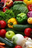 Fruit and vegetables. Group of different fruit and vegetables Royalty Free Stock Photos