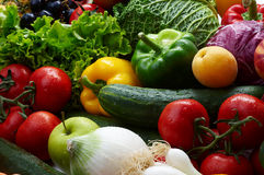 Fruit and vegetables. Group of different fruit and vegetables Royalty Free Stock Images