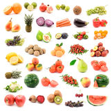 Fruit and vegetables. Fruits and vegetables studio isolated Royalty Free Stock Image