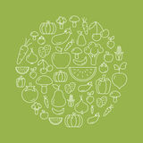 Fruit And Vegetables Background Royalty Free Stock Photos