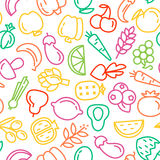Fruit and vegetables background seamless pattern Royalty Free Stock Photo