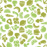 Fruit and vegetables background seamless pattern Stock Images
