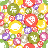 Fruit and vegetables background seamless pattern Stock Image