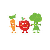Fruit and vegetables characters Royalty Free Stock Photos