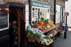 Fruit and Vegetables, Cley next the Sea, Norfolk stock image