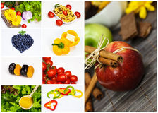 Fruit and vegetables collage Stock Photography