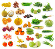Fruit and Vegetables collection on white background Royalty Free Stock Images