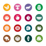 Fruit and Vegetables Color Icons Royalty Free Stock Image