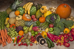 Fruit and Vegetables Display Royalty Free Stock Photography