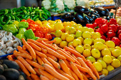 Fruit and vegetables farmers market Royalty Free Stock Photos