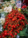 Fruit and vegetables at farmers market Stock Images