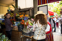 Fruit, vegetables and flowers in the Market, the Mercado dos Lavradores or the Market of the Workers Stock Images