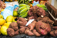 Fruit, vegetables and flowers in the Market, the Mercado dos Lavradores or the Market of the Workers Stock Image