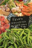 Fruit and vegetables at French market Royalty Free Stock Images