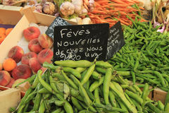 Fruit and vegetables at French market Royalty Free Stock Photography