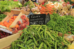 Fruit and vegetables at French market Royalty Free Stock Photo