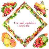 Fruit and vegetables Stock Image