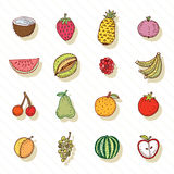 Fruit and Vegetables icon set. vector illustration Royalty Free Stock Photos