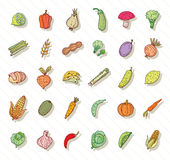 Fruit and Vegetables icon set. vector illustration Stock Image