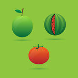 Fruit vegetables icons. Fruits and vegetables for a healthy diet Stock Photos