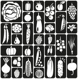 Fruit and vegetables icons Stock Photo