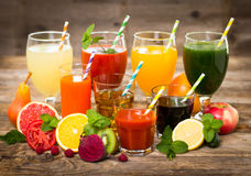Fruit and vegetables juices Royalty Free Stock Photo