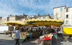 Fruit and Vegetables La Ciotat Sunday market Royalty Free Stock Images