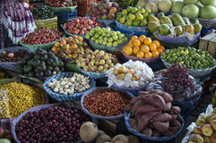 Fruit and vegetables at local market Royalty Free Stock Photo