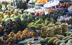 Fruit and vegetables at local market Royalty Free Stock Photography
