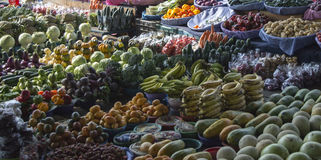 Fruit and vegetables at local market Royalty Free Stock Images
