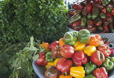 Fruit and vegetables at local market Stock Images