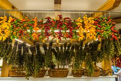 The fruit and vegetable market - Funchal royalty free stock photos