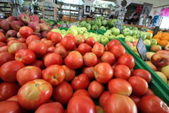 Fruit and vegetables market Stock Images