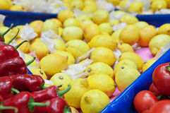Fruit, vegetables in the market Stock Image