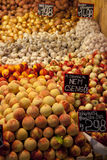 Fruit and vegetables in a market in Budapest Royalty Free Stock Photography